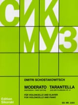 CHOSTAKOVITCH - Moderato / Tarantella op. 97 - Sheet Music - di-arezzo.co.uk