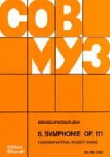 Symphonie n° 6 op. 111– Score - Serge Prokofiev - laflutedepan.com