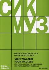 4 Walzer - Flöte Klarinette Klavier CHOSTAKOVITCH laflutedepan.com