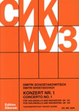 Dmitri Chostakovitch - Concerto Violoncello n° 1 op. 107 – Partitur - Partition - di-arezzo.fr