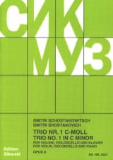 CHOSTAKOVITCH - Trio Nr. 1 op. 8 - Stimmen - Sheet Music - di-arezzo.co.uk