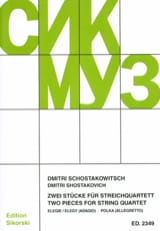 CHOSTAKOVITCH - 2 Stücke für Streichquartett - Partitur Stimmen - Sheet Music - di-arezzo.co.uk