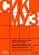 CHOSTAKOVITCH - Concerto pour Piano N° 1 Op. 35 - Partitur - Partition - di-arezzo.fr