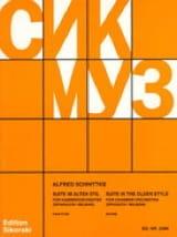 Alfred Schnittke - Suite im alten Stil - Kammerorch. – Partitur - Partition - di-arezzo.fr