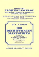 100 Déchiffrages Manuscrits Volume 1 - Clarinette laflutedepan.com