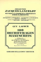100 Déchiffrages Manuscrits Volume 2 - Clarinette laflutedepan.com