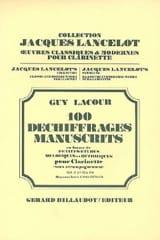 Guy Lacour - 100 Déchiffrages Manuscrits Volume 2 - Clarinette - Partition - di-arezzo.fr