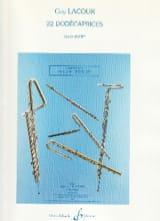 22 Dodécaprices – Flûte Guy Lacour Partition laflutedepan.com