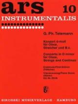 Konzert d-moll -Oboe Klavier TELEMANN Partition laflutedepan.com