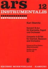 Doppelkonzert B-dur -Partitur Carl Stamitz Partition laflutedepan.com