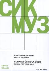 Sonate - Alto solo - Fjodor Druschinin - Partition - laflutedepan.com