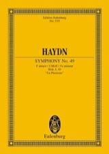 Sinfonie Nr. 49 f-moll - Joseph Haydn - Partition - laflutedepan.com