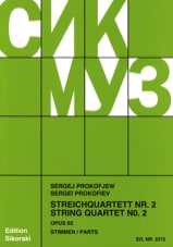 Serge Prokofiev - Streichquartett Nr. 2 op. 92 - Stimmen - Sheet Music - di-arezzo.co.uk