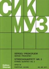 Serge Prokofiev - Streichquartett Nr. 2 op. 92 – Partitur - Partition - di-arezzo.fr