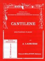 Cantilène Alain Ladrière Partition Hautbois - laflutedepan.com