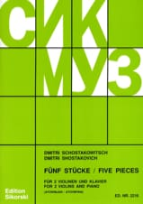 CHOSTAKOVITCH - 5 Pieces - 2 Violins and Piano - Sheet Music - di-arezzo.co.uk