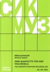 Zwei Quartette für 4 Violoncelli - Nikolaj Rakow - laflutedepan.com