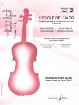 L' Ecole de l' Alto Volume 3 Frédéric Lainé Partition laflutedepan.com