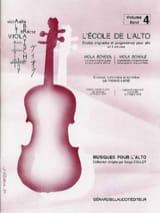L' Ecole de l' Alto Volume 4 Frédéric Lainé Partition laflutedepan.com