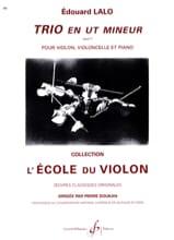 Edouard Lalo - Trio en ut mineur op. 7 - Partition - di-arezzo.fr
