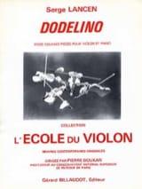 Dodelino Serge Lancen Partition Violon - laflutedepan.com