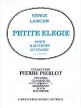 Petite élégie Serge Lancen Partition Hautbois - laflutedepan.com