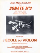 Jean-Marie Leclair - Sonata op. 9 n ° 3 D major - Sheet Music - di-arezzo.co.uk