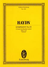 Sinfonie Nr. 92 G-Dur Joseph Haydn Partition laflutedepan.com