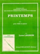 Printemps Léon Legron Partition Flûte traversière - laflutedepan.com