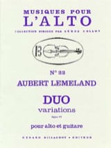 Duo Variations op. 77 Aubert Lemeland Partition laflutedepan.com