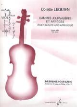 Gammes Journalières et Arpèges Colette Lequien laflutedepan.com
