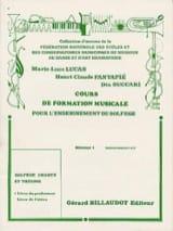 Lucas Marie-Luce / Fantapié Henri Claude / Succari Dia - Cours de FM – Débutant 1 - Professeur - Partition - di-arezzo.fr
