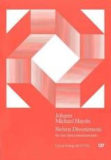 Sieben Divertimenti Michael Haydn Partition laflutedepan.com