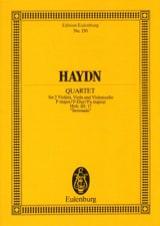 Streich-Quartett F-Dur op. 3 n° 5 Sérénade HAYDN laflutedepan.com
