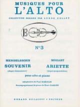 Souvenir / Ariette - laflutedepan.com