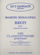 Récit Marcel Mihalovici Partition Clarinette - laflutedepan.com
