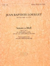 de Gant Jean Baptiste Loeillet - Sonata A-Moll The Min. - Alto and Bc Alto Recorder - Sheet Music - di-arezzo.co.uk