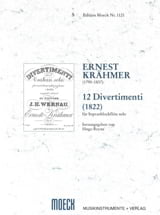 12 Divertimenti 1822 Ernest Krähmer Partition laflutedepan.com