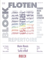Suite e-moll - 2 Melodieinstrumente Bc Marin Marais laflutedepan.com