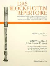 Sonate C-Dur, Op. 5/3 - Fl. A Bec Alto et Bc laflutedepan.com