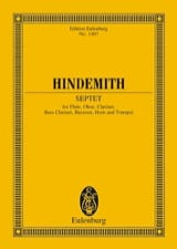 Paul Hindemith - Septett (1948) - Partition - di-arezzo.fr