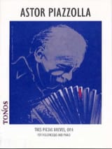 Astor Piazzolla - Very brief piezas op. 4 for cello y piano - Sheet Music - di-arezzo.co.uk