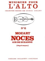 MOZART - Noces - Air de Suzanne - Partition - di-arezzo.fr