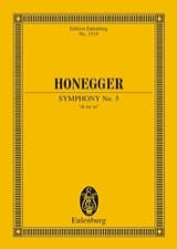 Arthur Honegger - Sinfonie N ° 5 - Sheet Music - di-arezzo.co.uk