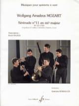 Wolfgang Amadeus Mozart - Sérénade N° 11 en Mib Maj. Kv 375 (1782) - Partition - di-arezzo.fr