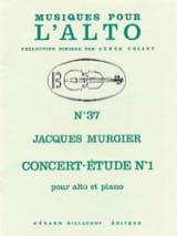 Jacques Murgier - Concert-étude n° 1 - Partition - di-arezzo.fr