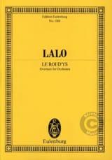 Le Roi d'Ys, Ouverture Edouard Lalo Partition laflutedepan.com