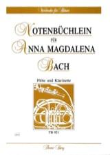 Notenbüchlein für Anna Magdalena Bach - Flöte Klarinette laflutedepan.com