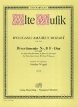 MOZART - Divertimento Nr. 8 F-Dur KV 213 -Bläserquintett - Stimmen - Partition - di-arezzo.fr
