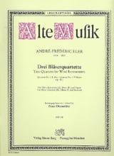 André-Frédéric Eler - 3 Bläserquartette - Nr. 1 F-Dur –Flöte Klarinette Horn Fagott - Partition - di-arezzo.fr